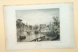Hoorn Binnenhaven 1858/ Hoorn (NL) Inland Port 1858. Rohbock, Kurz - Stampe & Incisioni