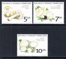 2006 Greenland Mushrooms Fungi  Complete Set Of 3 MNH @ BELOW FACE VALUE - Unused Stamps
