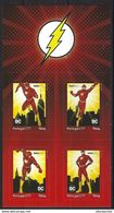 """PORTUGAL - """"meuselo"""" - DC Comics Flash (4 Self-adhesive Stamps) - Fairy Tales, Popular Stories & Legends"""