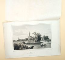 Edam Van Den Purmerringdijk Gezien 1858/ Edam (NL) Seen From The Purmerring Dike 1858. Rohbock, Umbach - Stampe & Incisioni
