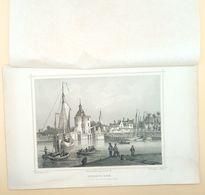 Enkhuizen, Zicht Op Buitenhaven 1858/ Enkhuizen (NL) View On Outer Harbor 1858. Rohbock, Poppel - Stampe & Incisioni