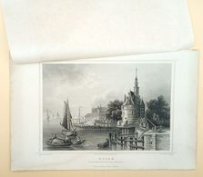 Hoorn, Hoofdtoren En Huis Van Correctie 1858/ Hoorn (NL) Main Tower And Disciplinary House 1858. Rohbock, Oeder - Stampe & Incisioni