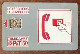 LUXEMBOURG LETZEBUERG TÉLÉCARTE 50 UNITÉS PHONECARD - Luxembourg