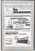 """JM04.07 / HEBDOMADAIRE D INFORMATION """" LE MOSAN """" DINANT 1977 - EDITO - PUBLIC.CINEMA COLISEUM..... - Pubblicitari"""