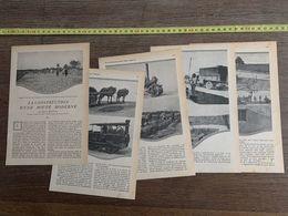 1918 JST CONSTRUCTION D UNE ROUTE MODERNE HENRI MOUTON GOUDRONNAGE ROULEAU COMPRESSEUR - Collections