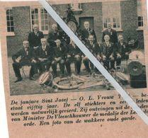"""O.L.VROUW TIELT..1938.. DE FANFARE """" ST. JOZEF """" BESTAAT 50 JAAR ONTVINGEN DE MEDAILLE LEOPOLDORDE - Ohne Zuordnung"""