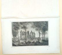 Muiden, Het Slot 1858/ Muiden (NL) The Castle 1858. Rohbock, Umbach - Stampe & Incisioni