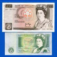Uk  2  Billets  Neuf - 1952-… : Elizabeth II.