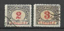 BOSNIA-HERZEGOWINA 1904 Postage Due Portomarken Michel 2 - 3 O - Bosnia Herzegovina