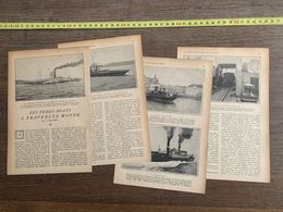 1918 JST FERRY BOATS A TRAVERS LE MONDE G HOUARD MERCEDES LACROZE - Collections