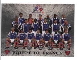 GF1657 - PLAQUETTE VACHE QUI RIT 19.5 X 14 CM - EQUIPE DE FRANCE DE FOOTBALL - EURO 96 - Fútbol