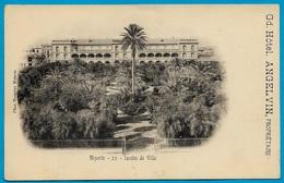 CPA Tunisie BIZERTE Jardin De Ville (publicitaire Gd Hôtel ANGELVIN Propriétaire) ° Phot. Mounier - Tunisia