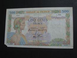 500 Francs  - LA PAIX  - 25-7-1940   **** EN ACHAT IMMEDIAT **** - 500 F 1940-1944 ''La Paix''