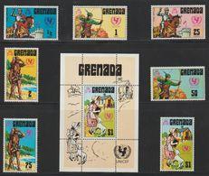 GRENADA 1972 UNICEF Contes Et Légendes ( Arthur ;Robin Des Bois ;Marie ;Crusoé ) - Grenada (1974-...)