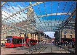 Bern Bahnhofplatz Mit Baldachin/Tram/ Moderne Karte - BE Berne