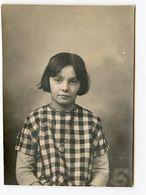 Fille Girl Enfant Kid Portrait 30s Photo Ecole Scolaire Identité Carreau Beauty Cute - Persone Anonimi
