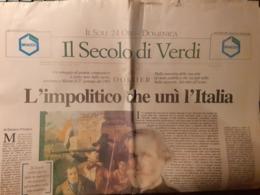 """Inserto Dossier De """"Il Sole 24 Ore"""": Il Secolo Di Giuseppe Verdi - 2001 - Art, Design, Décoration"""