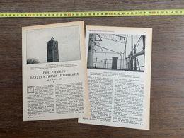 1918 JST PHARES DESTRUCTEURS D OISEAUX ECHELLES DE THIJSSE TERSCHELLING - Collections