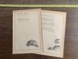 1918 JST PLACET POUR UN ARBRE POEME PAR JEAN LAILLER PIERRE DE RONSARD - Collections