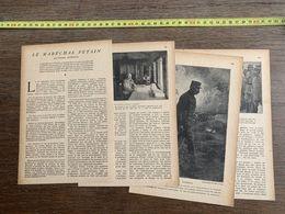 1918 JST LE MARECHAL PETAIN GABRIEL ALPHAUD - Collections