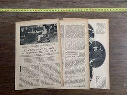 1918 JST LE PRESIDENT WILSON EMILE HOVELAQUE MAISON BLANCHE - Collections