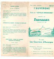 Publicité Pour Mieux Connaître L'Auvergne Profitez Des Joyeux Dimanches Organisés Par Transcar En Cars 1973 - Pubblicitari