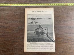1918 JST POUR LA DEFENSE DES PORTS TORPILLEUR SOUS MARIN - Collections