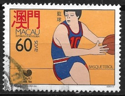 Macau Macao – 1988 Seoul Olympic Games 60 Avos Used Stamp - Macao