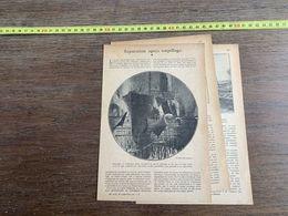 1918 JST REPARATION APRES TORPILLAGE GRAND STEAMER TOURBIERES PIERRE DE MONTGOLFIER - Alte Papiere