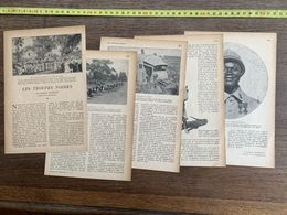 1918 JST TROUPES NOIRES GRATIEN CANDACE CONSCRITS NEGRES GARE DE DAKAR - Alte Papiere