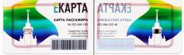 Transport  Card  Russia. Ekaterinburg  Metro/train/trolleybus/bus  Transparent  Card 05.2020 New - Russia