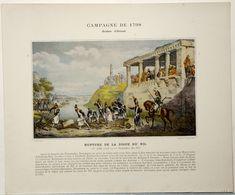Campagne D'Egypte.1798.armée D'Orient.Napoléon Bonaparte.le Caire.fête Du Débordement Du Nil.Rupture De La Digue. - Stampe & Incisioni