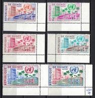 Repblique De Guinee / Guinea 1959, UNO - Landscape - Solidarité - Justite **, MNH, Corner Margin - Guinea (1958-...)