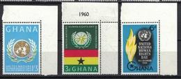 Ghana 1960, Human Rights **, MNH, Corner Margin - Ghana (1957-...)