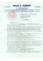 Courrier Agence F. Clément Transactions Immobilières & Commerciales Royan-Pontaillac + Plan Légende Côte De Beauté Royan - Francia