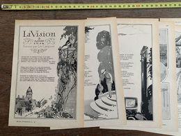 1918 JST VISION 2 AOUT 1914 POEME LEO LARGUIER NAURAC ENGINS LEVAGE MODERNES GRUE TITAN - Alte Papiere
