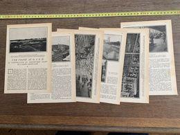 1918 JST VISITE AU GISD CONSTRUCTION FRIGORIFIQUE GEANT ARMEE AMERICAINE ICE PLANT GLACIERE NEGRES GIEVRES - Alte Papiere