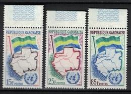 Gabon 1961, UNO - ONU - Flag - Map - Libreville **, MNH - Gabon
