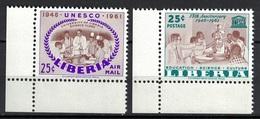 Liberia 1961, UNESCO **, MNH, Corner Margin - Liberia