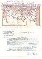 Courrier De L'Agence Villeneuve Perros-Guirec Avec Plans Des Parcelles à Vendre En 1970 - Francia