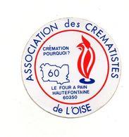 Autocollant Association Des Crématistes De L'Oise - Format : 9 Cm De Diamètre - Pegatinas