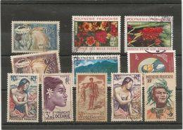 9,11  Oceanie193  Et   8 Timbres          (boitsorblan) - Polinesia Francese