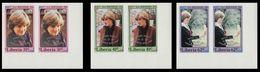 LIBERIA 1982 Diana Baby OVPT.CORNER.IMPERF.PAIRS:3 - Liberia