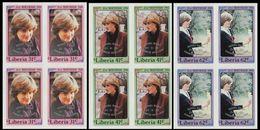 LIBERIA 1982 Diana Baby OVPT.IMPERF.4-BLOCKS:3 - Liberia