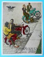 PANNONIA DeLuxe 250 - Original Vintage Sales Flyer * German Issue * Motorcycle Motorbike Moto Motorrad Motociclo - Motos