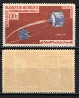MAURITANIA - 1964 - Syncom Satellite, Globe - FRANCOBOLLO CON PIEGHE - MNH - Mauritania (1960-...)