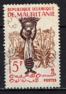 MAURITANIA - 1960 - RACCOLTA DEL MIGLIO - USATO - Mauritania (1960-...)