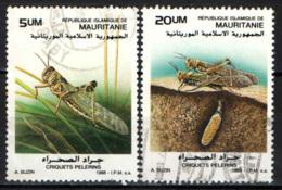 MAURITANIA - 1989 - Locusts, Moths And Ladybugs - USATI - Mauritania (1960-...)