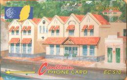 Grenada - GPT, GRE-148E, 148CGRE, Grentel Building, 10 EC$, Buildings, 20,000ex, 1997, Used As Scan - Grenada