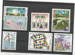 8 Timbres Luxe Sans Ch   (841) - Wallis Y Futuna
